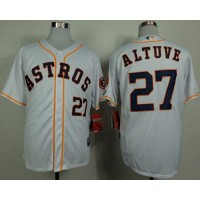 Astros #27 Jose Altuve White Cool Base Stitched Baseball Jersey