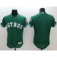 Astros Blank Green Celtic Flexbase Authentic Collection Stitched Baseball Jersey