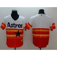 Astros Blank WhiteOrange Flexbase Authentic Collection Cooperstown Stitched Baseball Jersey
