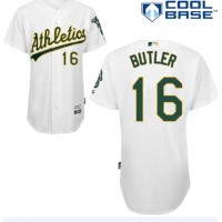 Athletics #16 Billy Butler White Cool Base Stitched Baseball Jersey