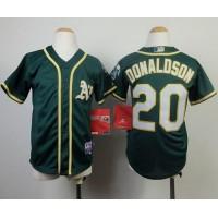 Athletics #20 Josh Donaldson Green Cool Base Stitched Youth Baseball Jersey