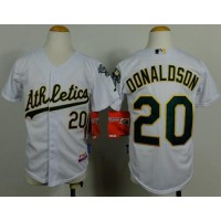 Athletics #20 Josh Donaldson White Cool Base Stitched Youth Baseball Jersey