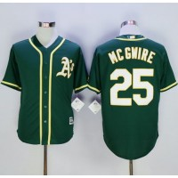 Athletics #25 Mark McGwire Green New Cool Base Stitched Baseball Jersey