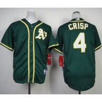 Athletics #4 Coco Crisp Green Cool Base Stitched Youth Baseball Jersey