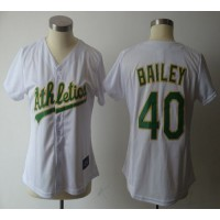 Athletics #40 Bailey White Women's Fashion Stitched Baseball Jersey