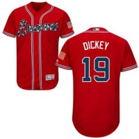 Atlanta Braves #19 R.A. Dickey Red Flexbase Authentic Collection Stitched MLB Jersey