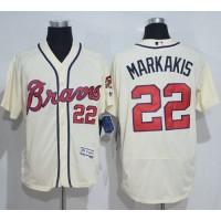Atlanta Braves #22 Nick Markakis Cream Flexbase Authentic Collection Stitched Baseball Jersey