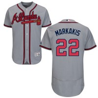 Atlanta Braves #22 Nick Markakis Grey Flexbase Authentic Collection Stitched MLB Jersey