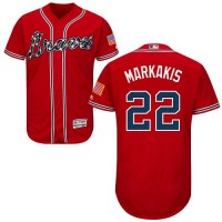 Atlanta Braves #22 Nick Markakis Red Flexbase Authentic Collection Stitched MLB Jersey