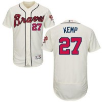 Atlanta Braves #27 Matt Kemp Cream Flexbase Authentic Collection Stitched MLB Jersey