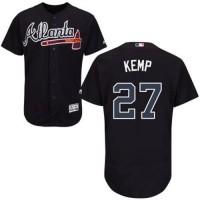 Atlanta Braves #27 Matt Kemp Navy Blue Flexbase Authentic Collection Stitched MLB Jersey