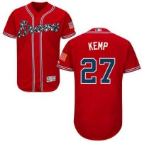 Atlanta Braves #27 Matt Kemp Red Flexbase Authentic Collection Stitched MLB Jersey
