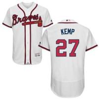 Atlanta Braves #27 Matt Kemp White Flexbase Authentic Collection Stitched MLB Jersey