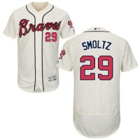 Atlanta Braves #29 John Smoltz Cream Flexbase Authentic Collection Stitched MLB Jersey