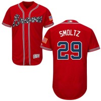 Atlanta Braves #29 John Smoltz Red Flexbase Authentic Collection Stitched MLB Jersey