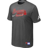 Atlanta Braves Nike Short Sleeve Practice Baseball T-Shirts Crow Grey