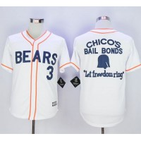 Bad News Bears Button Down #3 Kelly Leak White Movie Stitched Baseball Jersey