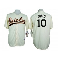 Baltimore Orioles #10 Adam Jones Cream 1954 Turn Back The Clock Throwback Stitched Baseball Jersey