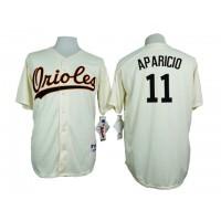 Baltimore Orioles #11 Luis Aparicio Cream 1954 Turn Back The Clock Throwback Stitched Baseball Jersey