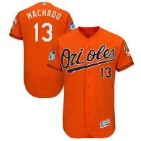 Baltimore Orioles #13 Manny Machado Orange 2017 Spring Training Flexbase Authentic Collection Stitched Baseball Jersey