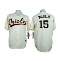 Baltimore Orioles #15 Hoyt Wilhelm Cream 1954 Turn Back The Clock Throwback Stitched Baseball Jersey