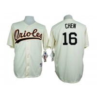 Baltimore Orioles #16 Wei Yin Chen Cream 1954 Turn Back The Clock Throwback Stitched Baseball Jersey