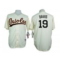 Baltimore Orioles #19 Chris Davis Cream 1954 Turn Back The Clock Throwback Stitched Baseball Jersey