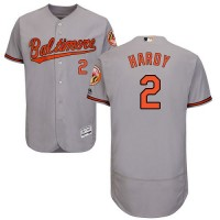 Baltimore Orioles #2 J.J. Hardy Grey Flexbase Authentic Collection Stitched MLB Jersey