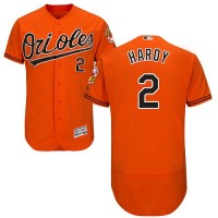 Baltimore Orioles #2 J.J. Hardy Orange Flexbase Authentic Collection Stitched MLB Jersey