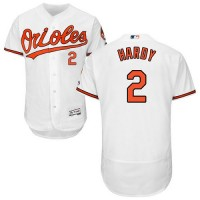 Baltimore Orioles #2 J.J. Hardy White Flexbase Authentic Collection Stitched MLB Jersey