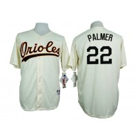 Baltimore Orioles #22 Jim Palmer Cream 1954 Turn Back The Clock Throwback Stitched Baseball Jersey