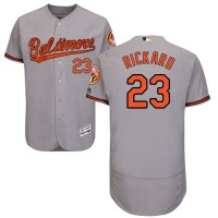 Baltimore Orioles #23 Joey Rickard Grey Flexbase Authentic Collection Stitched MLB Jersey