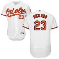 Baltimore Orioles #23 Joey Rickard White Flexbase Authentic Collection Stitched MLB Jersey