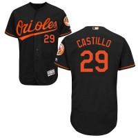 Baltimore Orioles #29 Welington Castillo Black Flexbase Authentic Collection Stitched MLB Jersey