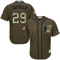 Baltimore Orioles #29 Welington Castillo Green Salute to Service Stitched MLB Jersey