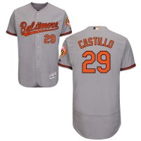 Baltimore Orioles #29 Welington Castillo Grey Flexbase Authentic Collection Stitched MLB Jersey