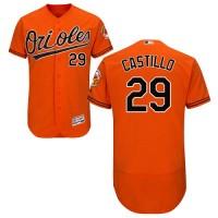 Baltimore Orioles #29 Welington Castillo Orange Flexbase Authentic Collection Stitched MLB Jersey