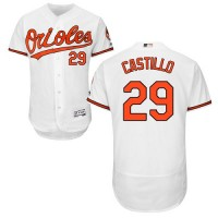 Baltimore Orioles #29 Welington Castillo White Flexbase Authentic Collection Stitched MLB Jersey