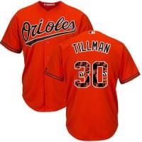 Baltimore Orioles #30 Chris Tillman Orange Team Logo Fashion Stitched MLB Jersey
