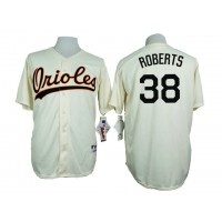 Baltimore Orioles #38 Brian Roberts Cream 1954 Turn Back The Clock Throwback Stitched Baseball Jersey