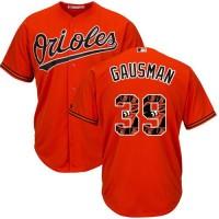 Baltimore Orioles #39 Kevin Gausman Orange Team Logo Fashion Stitched MLB Jersey