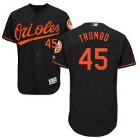 Baltimore Orioles #45 Mark Trumbo Black Flexbase Authentic Collection Stitched MLB Jersey