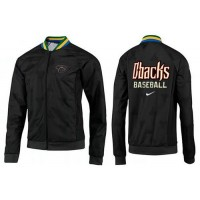 Baseball Arizona Diamondbacks Zip Jacket Black_4