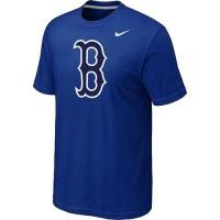 Baseball Boston Red Sox Heathered Nike Blended T-Shirt Blue