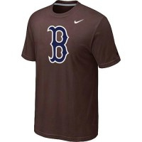 Baseball Boston Red Sox Heathered Nike Blended T-Shirt Brown