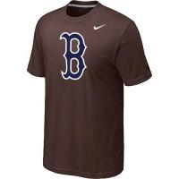 Baseball Boston Red Sox Heathered Nike Blended T-Shirt Brown