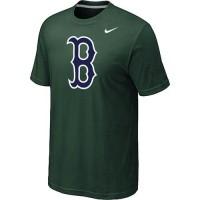 Baseball Boston Red Sox Heathered Nike Blended T-Shirt Dark Green