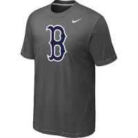 Baseball Boston Red Sox Heathered Nike Blended T-Shirt Dark Grey