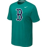 Baseball Boston Red Sox Heathered Nike Blended T-Shirt Green