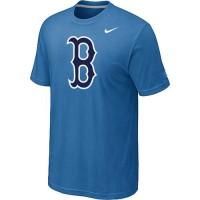 Baseball Boston Red Sox Heathered Nike Blended T-Shirt Light Blue